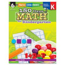 Teachers aid book,180 days of math, gr k, sold as 1 each