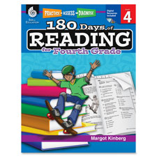 Teachers aid book,180 days of reading, gr 4, sold as 1 each
