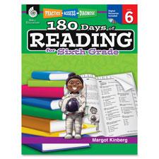 Teachers aid book,180 days of reading, gr 6, sold as 1 each