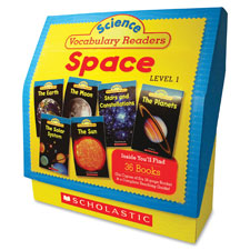 Science vocabulary readers space, lvl 1, 128pgs, multi, sold as 1 set
