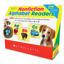 Nonfiction alphabet readers, 156 books, multi, sold as 1 set