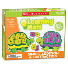 Learning mats game, addition/subtraction, 72pcs, multi, sold as 1 each