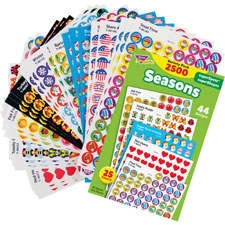 Seasons stickers variety pack, 2500 pieces, multi, sold as 1 package, 2500 each per package