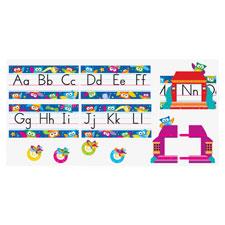 Owl stars alphabet line std manuscript, 31 pcs, multi, sold as 1 set