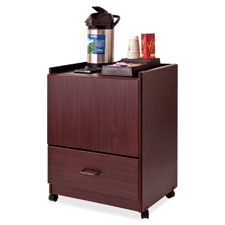 """Mobile deluxe coffee bar, 23""""x19""""x30-3/4"""", mahogany, sold as 1 each"""