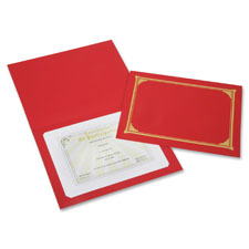 """Certificate holder, 8-1/2""""x11"""", red, sold as 1 package, 6 each per package"""