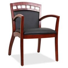 "Wood guest chair, 23-1/4""x24-3/8""x34"", black/cherry, sold as 1 each"