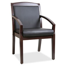 "Wood guest chair, 23-1/4""x24-3/8""x35.88"", black/cherry, sold as 1 each"