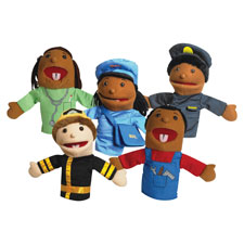 "Career puppets, 10"" h, 5/st, sold as 1 set, 5 each per set"