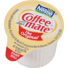 Coffee-mate liquid creamer singles, 180/ct, original, sold as 1 carton, 50 each per carton
