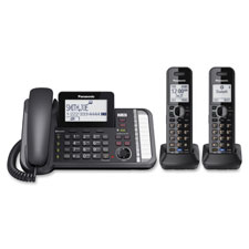 Cordless phone, 2-line corded, lnk2cll, black, sold as 1 each