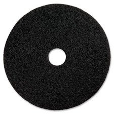 "Floor stripping pads, 13"", 5/ct, black, sold as 1 carton"