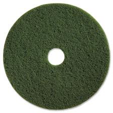 """Scrubbing floor pads, hvy-dty, 13"""", 5/ct, green, sold as 1 carton, 5 each per carton"""