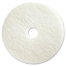"Polishing floor pads, 19"", 5/ct, white, sold as 1 carton, 5 each per carton"