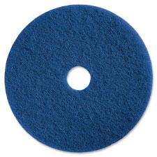 "Scurbbing floor pads, 20"", medium duty, 5/ct, blue, sold as 1 carton, 5 each per carton"