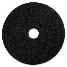 "Gloss floors pad, 17"", 5/ct, black, sold as 1 carton, 5 each per carton"