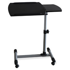"Laptop mobile desk, 15-3/4""x27-1/2""x32-1/2"", black/silver, sold as 1 each"