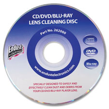 Endust laser lens cleaning disc, abyss blue, sold as 1 each, 24 each per each