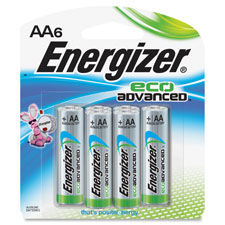 Eco advanced aa batteries, longlast, 6/pk, swg, sold as 1 package, 4 each per package