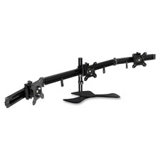 "Triple monitor arm, 9-3/4""x4-1/2""x28-1/2"", black, sold as 1 each"