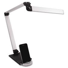 Led desk lamp, 3hinge, usb, silver, sold as 1 each