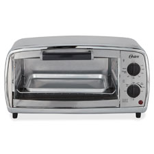 Toaster oven, 4-slice cap, stainless steel, sold as 1 each