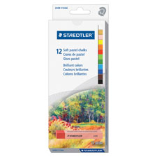 Soft chalk pastels, water-soluble, 12/st, ast, sold as 1 package, 12 each per package