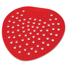 "Urinal screen, deodorized, cherry, 8"" diameter, 12/dz, red, sold as 1 dozen, 2500 each per dozen"