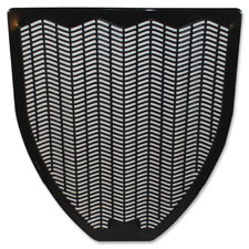 "Urinal mat, z-mat, .5""x17""x20.4"", 6/ct, black, sold as 1 carton"