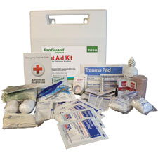 """First aid kit, f/ 50 persons, 11""""x3""""x10.5"""", white/red, sold as 1 each"""