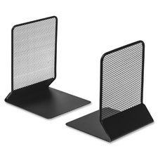 "Mesh bookend, 5""x5-1/5""x6"", black, sold as 1 pair"