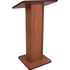 "Elite non sound lectern, 21""x15""x43"", mahogany, sold as 1 each"