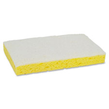 "Scrub sponge,light duty,6.1""x3.6""x0.7"",20/bx,yellow/white, sold as 1 box, 5 each per box"