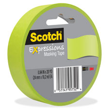 """Expressions masking tape,decorative,.94""""x20yrds,orange, sold as 1 roll"""