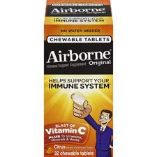 Immune support chewable tablets, citrus, 32/bt, orange, sold as 1 belt