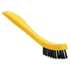 "Grout brish, plastic bristles, 8.5"" long, yellow/black, sold as 1 each"