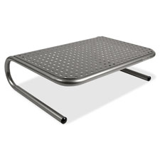 "Metal monitor stand, 14-1/2""x11""x4"", black, sold as 1 each"