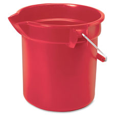 """Brute round bucket, 14 qt, 11.2""""x12"""", red, sold as 1 each"""