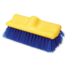 "Floor scrub brush, 10"" long, blue/yellow, sold as 1 each"