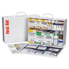First aid kit, 75 people, 516 pieces, white, sold as 1 each