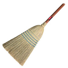 "Warehouse corn broom, 1-1/8"" diam, 12"" wide, blue, sold as 1 each"