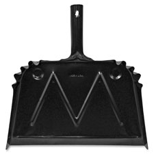"Dust pan, metal, 20 gauge steel, 15.5""x16"", black, sold as 1 each"