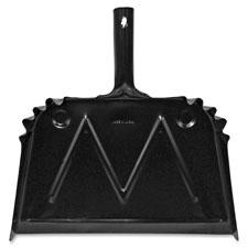 """Dust pan, metal, 20 gauge steel, 15.5""""x16"""", black, sold as 1 each"""