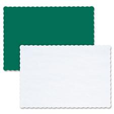 "Paper placemat,9-5/8""x13-1/2"",scalloped edge,1000/ct,white, sold as 1 carton, 25 each per carton"