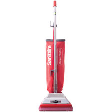 "Upright vacuum, w/bag, 42.5""x12""x14"", 6.1 qt, red/silver, sold as 1 each"