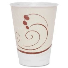 Trophy foam cup,hot/cold,symphony design,12oz,100/pk,beige, sold as 1 package, 10 package per package