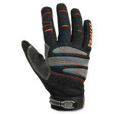 Full-finger trades gloves, medium, 1/pr, black, sold as 1 pair, 2 each per pair