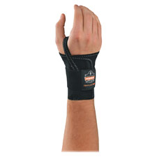 Single strap wrist support, ll, black, sold as 1 each