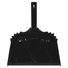 """Heavy-duty metal dustpan, 12"""", black, sold as 1 each"""