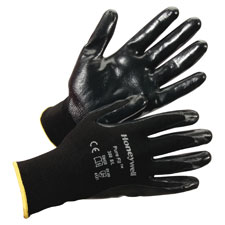 Pure fit dipped gloves, large, 144/pr, black, sold as 1 pair